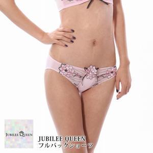JUBILEE QUEEN フルバックショーツ レディース パンツ セクシー ショーツ 下着 日本製  スタンダード アップリケ ストーン コレクション ショーツ|roseneckworks