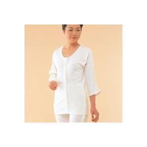 コベス ワンタッチ肌着 婦人前開き両肩腕開き7分袖 M・NO.53(シルバー用品)|roseyrose