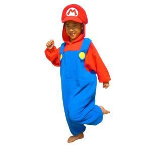 サザック フリース着ぐるみ スーパーマリオ マリオ 子供用 BAN-057F・110cm(コスチューム) roseyrose