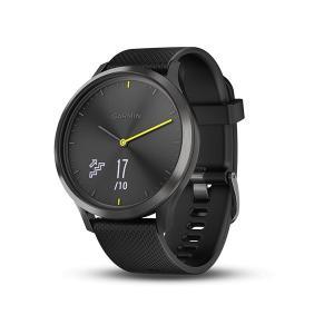 在庫品は毎日発送 ガーミン GARMIN フィットネス スマートウォッチ vivomove HR Sport Black タッチスクリーン ブラック 腕時計 日本版正規 010-01850-71|roshie
