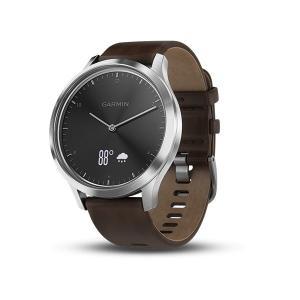 在庫品は毎日発送 ガーミン GARMIN フィットネス スマートウォッチ vivomove HR Premium 心拍計測 ブラックシルバー 腕時計 日本版正規品 010-01850-74|roshie