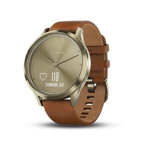 ガーミン GARMIN フィットネス スマートウォッチ vivomove HR Premium ゴールド 心拍計測 メンズ兼レディース 腕時計 日本版正規品 010-01850-75