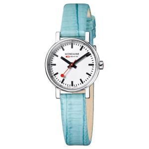モンディーン Mondaine 腕時計  Evo Petite  エヴォ プチ ターコイズ 正規輸入品1年保証 A658.30301.11SBF|roshie