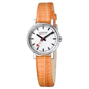 モンディーン Mondaine 腕時計  Evo Petite  エヴォ プチ オレンジ 正規輸入品1年保証 A658.30301.11SBG|roshie