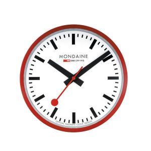 モンディーン Mondaine 壁掛け時計 Wall Clock  ウォール クロック レッド 直径25cm 正規輸入品1年保証 A990.CLOCK.11SBC|roshie