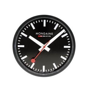 モンディーン Mondaine 壁掛け時計  Wall Clock  ウォール クロック ブラック 正規輸入品1年保証 直径25cm A990.CLOCK.64SBB|roshie