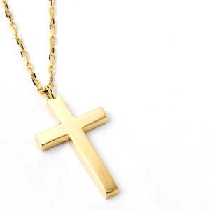 十字架 クロス ネックレス 18金 k18 18k レディース ゴールド シンプル 30代 40代 ...