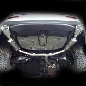 トヨタ ハリアー ターボ ASU60W マフラー DUALIST EX オーバルシングル左右出し TRD対応!【ポリッシュ】 送料無料!|rossomodello|04