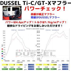 新型 ジムニー マフラー JB64W 【MT/AT共用】 ロッソモデロ DUSSEL Ti-C 車検対応 チタンテール パワーアップ!|rossomodello|12