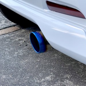 三菱 ekクロススペース B34A マフラーカッター 2WD NA専用 ロッソモデロ MARVELOUS T1 ekX ブルー|rossomodello