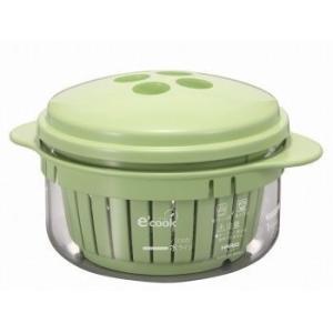 ハリオ レンジでゆで野菜&パスタ アスパラグリーン 実用容量:1000ml|roudoku