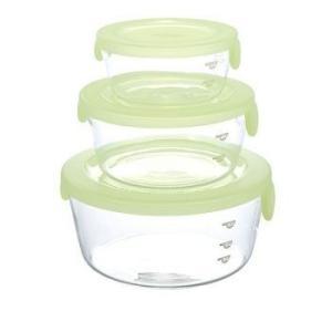ハリオ 保存容器セットのロングセラースタッキー 3個セット満水容量:300ml・600ml・1,200ml|roudoku