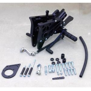 在庫あり WR'S ダブルアールズ バトルステップ 3ポジション バックステップ TYPE-1 ブラック  GPZ900R  0-45-WK4920|roughandroad-outlet