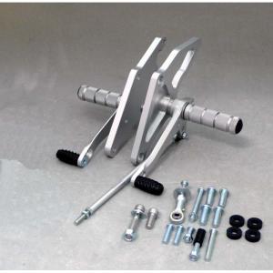 在庫あり WR'S ダブルアールズ バトルステップ 1ポジション バックステップ シルバー  CB400SF SPECIII/II/VTEC/SB  0-45-WS1414|roughandroad-outlet