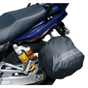 RR9908 ポケッタブルヘルメットカバー ラフアンドロード 袋 簡易防水 ブラック 40X25X35cm|roughandroad-outlet