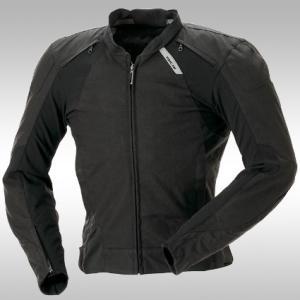 レーシングスーツを思わせる立体パターンを採用し、ライディング機能に徹したテキスタイルモデル。腰部分に...