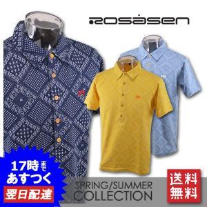 ■ロサーセン  ■上質な素材を使用した半袖ポロシャツです。 ストレッチ性があり、動きやすいです! ゴ...
