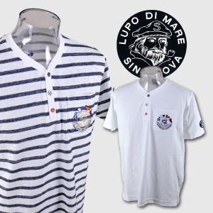 ■シナコバ  ■上質な綿素材を使用した半袖ヘンリーネック半袖Tシャツです。 シナコバらしいマリンテイ...