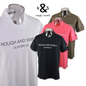 ラフアンドスウェル 半袖ポロシャツ (S)(M)(L)(LL) ゴルフウェア SIMPLE LOGO SKIPPER rough & swell rsm-19044|roundover