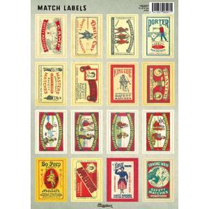 イギリスのアンティークマッチラベルを集めてシールにしました。使いやすい切り抜き加工済み。切手のように...