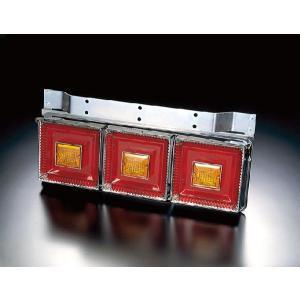 トラック用品 JB(改)角型3連テールランプ大型 赤/橙(リレー付き)|route2yss