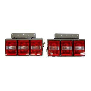 トラック用品 TTL-120 バステールランプ3連 赤/クリア/赤 L&Rセット(リレー無)|route2yss