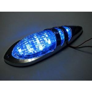 トラック用品 YAC CE155 slim流星LEDジェットマーカー クリアレンズ/LEDブルー12/24V共用|route2yss