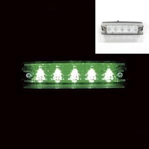 トラック用品 YAC CE-234 流星Re5LED車高灯ランプ クリアレンズ/LED緑(24V用)|route2yss|03