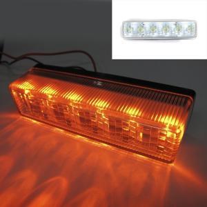 トラック用品 YAC CE-242 流星Re6LED車高灯ランプ クリアレンズ/LED橙(24V用)|route2yss|03