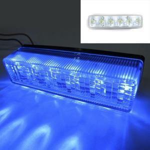 トラック用品 YAC CE-245 流星Re6LED車高灯ランプ クリアレンズ/LED青(24V用)|route2yss|03