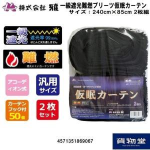 トラック用品 【お買得】難燃プリーツ仮眠カーテン ブラック|route2yss