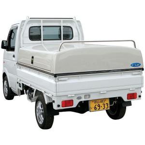 トラック用品 軽トラ専用ボックス トラボ ホワイト代引き不可 梱包送料別途|route2yss