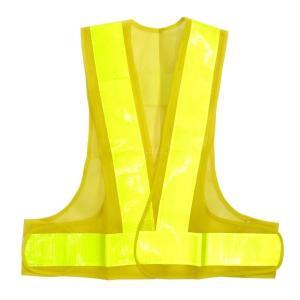 トラック用品 2597788 作業用安全ベスト 黄テープ×黄メッシュ(7cm幅反射テープ) route2yss