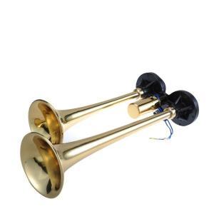 ニッケン D型ミドルヤンキーホーン 真鍮 24V(A1011)/12V(A1012)|route2yss