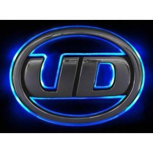 トラック用品 UDトラックス フレンズクオン/フレンズコンドル LEDオーロラマーク ブルー|route2yss