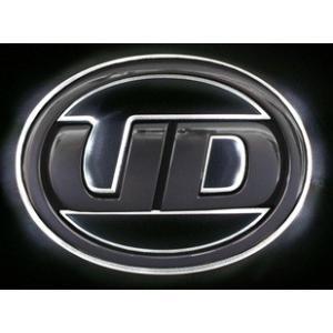 トラック用品 UDトラックス フレンズクオン/フレンズコンドル LEDオーロラマーク ホワイト|route2yss