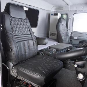 トラック用品 グランドダイヤシートカバー(運転席助手席)ブラック 日野グランドプロフィア用[代引不可] route2yss 03