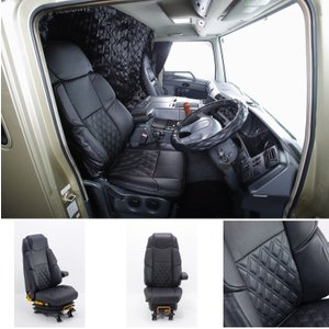 トラック用品 グランドダイヤプレミアムシートカバー いすゞ10ギガ 運転席用|route2yss