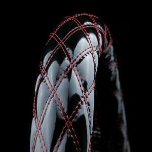 トラック用品 雅ブレイクキルトハンドルカバーエナメルブラック×糸赤|route2yss
