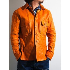 MMM(エムエムエム)〜HORSE LEATHER SHIRTS WITH CHIN STRAP CAMEL〜|route66amboy