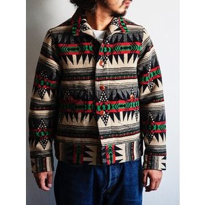 Dapper's(ダッパーズ)〜Native Pattern Blanket A-1 Style Jacket〜|route66amboy