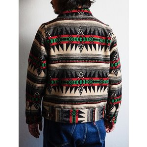 Dapper's(ダッパーズ)〜Native Pattern Blanket A-1 Style Jacket〜|route66amboy|03