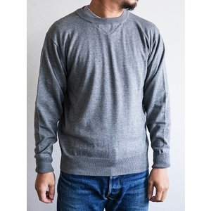 WORKERS(ワーカーズ)〜14Gauge Cotton Sweater HEATHER GRAY〜|route66amboy