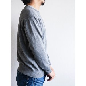 WORKERS(ワーカーズ)〜14Gauge Cotton Sweater HEATHER GRAY〜|route66amboy|02
