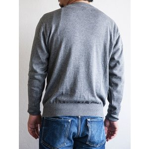 WORKERS(ワーカーズ)〜14Gauge Cotton Sweater HEATHER GRAY〜|route66amboy|03