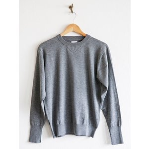 WORKERS(ワーカーズ)〜14Gauge Cotton Sweater HEATHER GRAY〜|route66amboy|04
