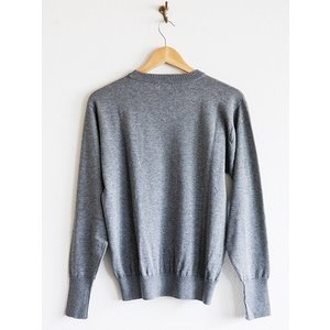 WORKERS(ワーカーズ)〜14Gauge Cotton Sweater HEATHER GRAY〜|route66amboy|05