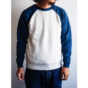 TOPAZ(トパーズ)〜Raglan 2Tone Crewneck Sweat Shirts Navy〜|route66amboy