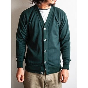 WORKERS(ワーカーズ)〜FC High Gauge Knit Cardigan Green〜|route66amboy