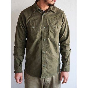 WORKERS(ワーカーズ)〜Metal Button Work Shirts Olive〜|route66amboy